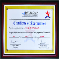 DATACOMP TRAINING CERTIFICATE